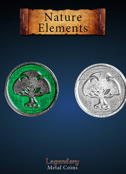 Legendary Metal Coins: Nature Element (12pcs)