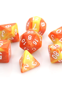 RPG Dice Set: Fireball