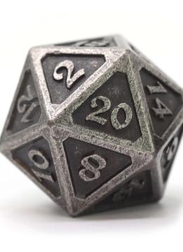 Dire D20: Mythica Dark Silver