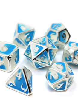 Metal RPG Dice Set: Spellbinder Polar Vortex