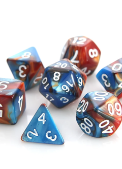 RPG Dice Set: Copper / Turquoise Alloy
