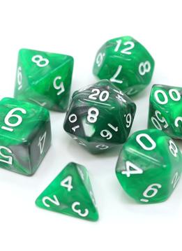 RPG Dice Set: Emerald Ore