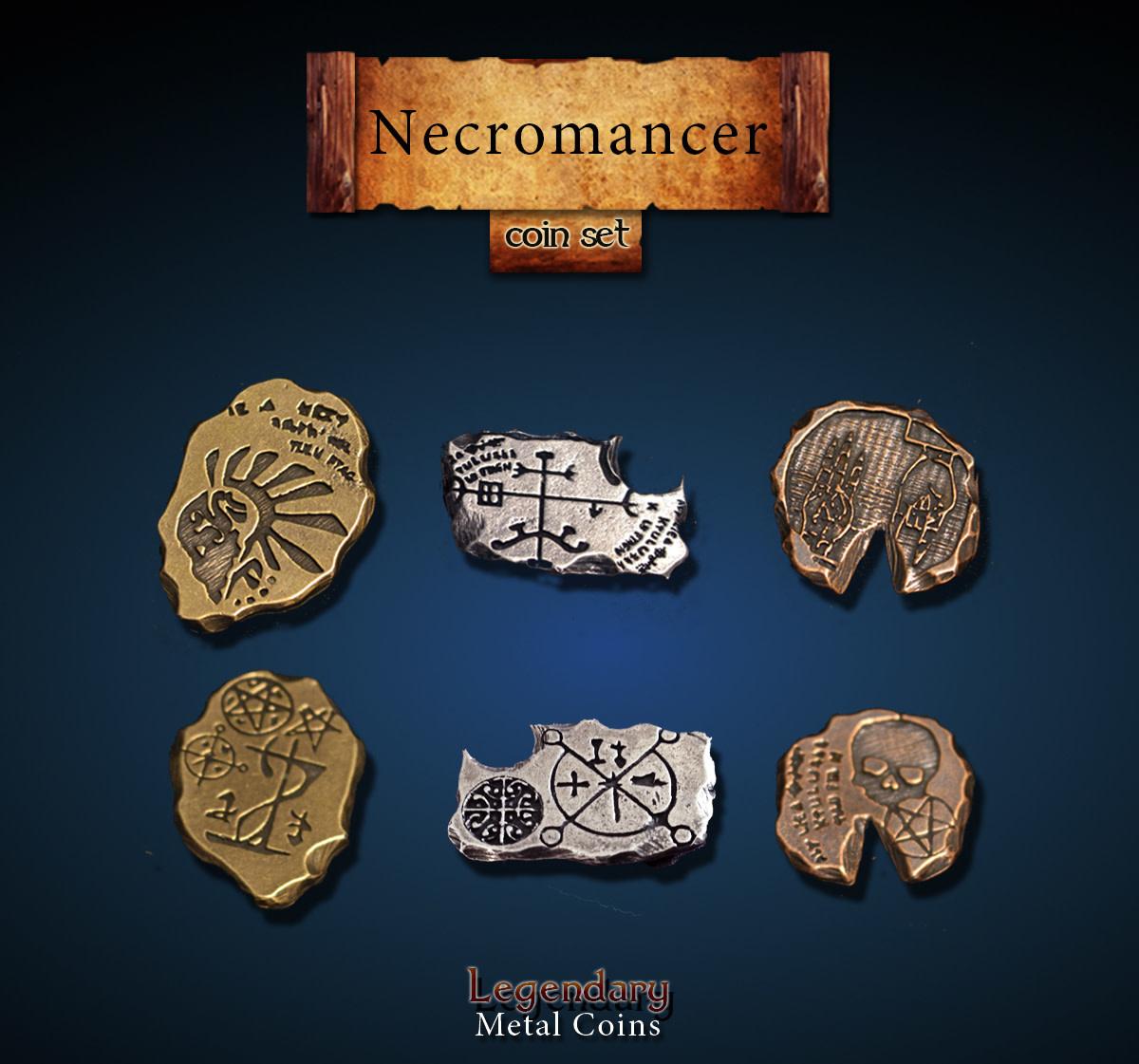 Legendary Metal Coins: Necromancer (24pcs)