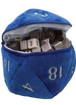 D20 Plush Dice Bag - Blue