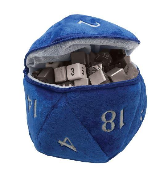 D20 Plush Dice Bag - Blue