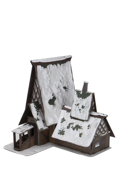 D&D Icons: Icewind Dale - The Lodge Papercraft Set