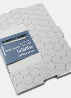 Gaming Paper: Tiles 8x11 Grid/Hex