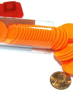 Mini Poker Chip Tube - Orange (50)