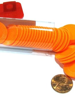 Mini Poker Chip Tube - Orange (50)