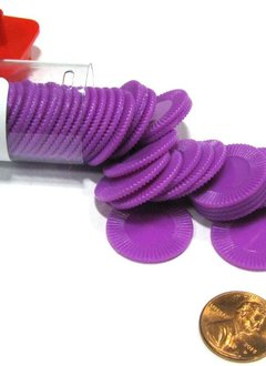 Mini Poker Chip Tube - Purple (50)