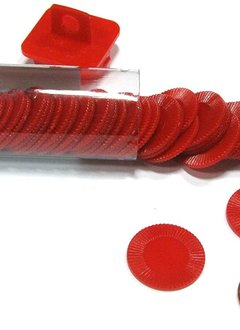 Mini Poker Chip Tube - Red (50)