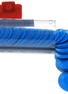 Mini Poker Chip Tube - Blue (50)