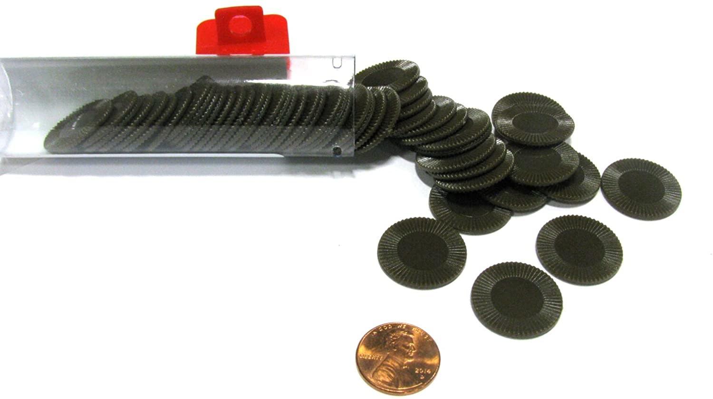 Mini Poker Chip Tube - Brown (50)