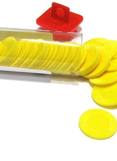 Mini Poker Chip Tube - Yellow (50)