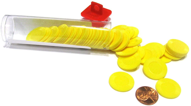 Mini Poker Chip Tube - Yellow (50)