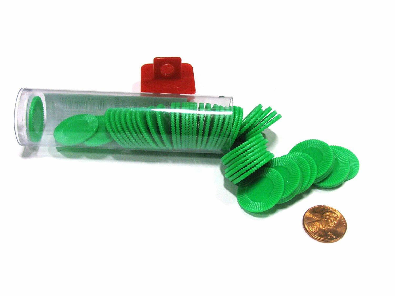 Mini Poker Chip Tube - Green (50)