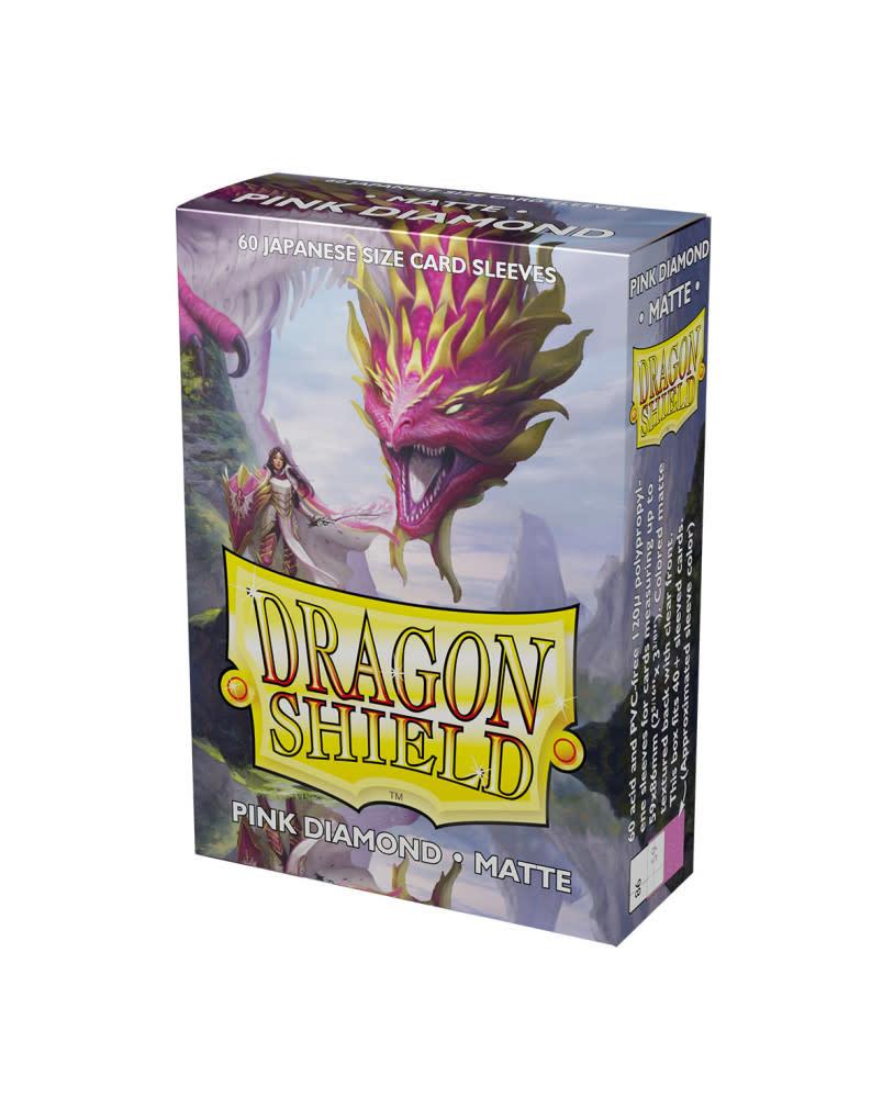 Dragon Shield Pink Diamond Japanese Size Matte Sleeves (60)
