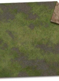 Monster Scenery: 6x4 Broken Grassland / Desert Scrubland Game Mat