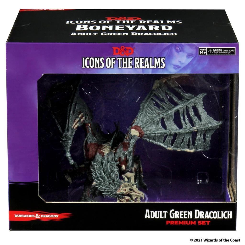 D&D Icons 18: Boneyard - Green Dracolich Premium Set