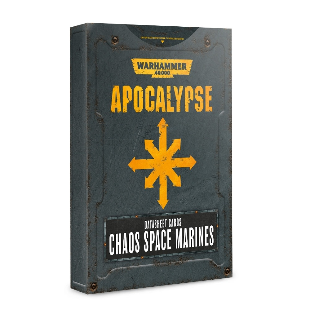 Apocalypse: Datasheet Cards Chaos Space Marines (Disponible le 6 Juillet)