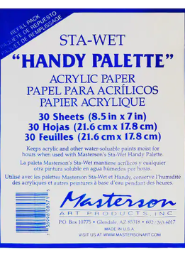 Sta-Wet Handy Palette Acrylic Refills (30ct)