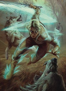 """Puzzle: The Witcher 3 - Ciri & Wolves 20""""x27"""" (1000pc)"""