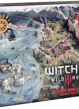 """Puzzle: The Witcher 3 - World Map 20""""x27"""" (1000pc)"""