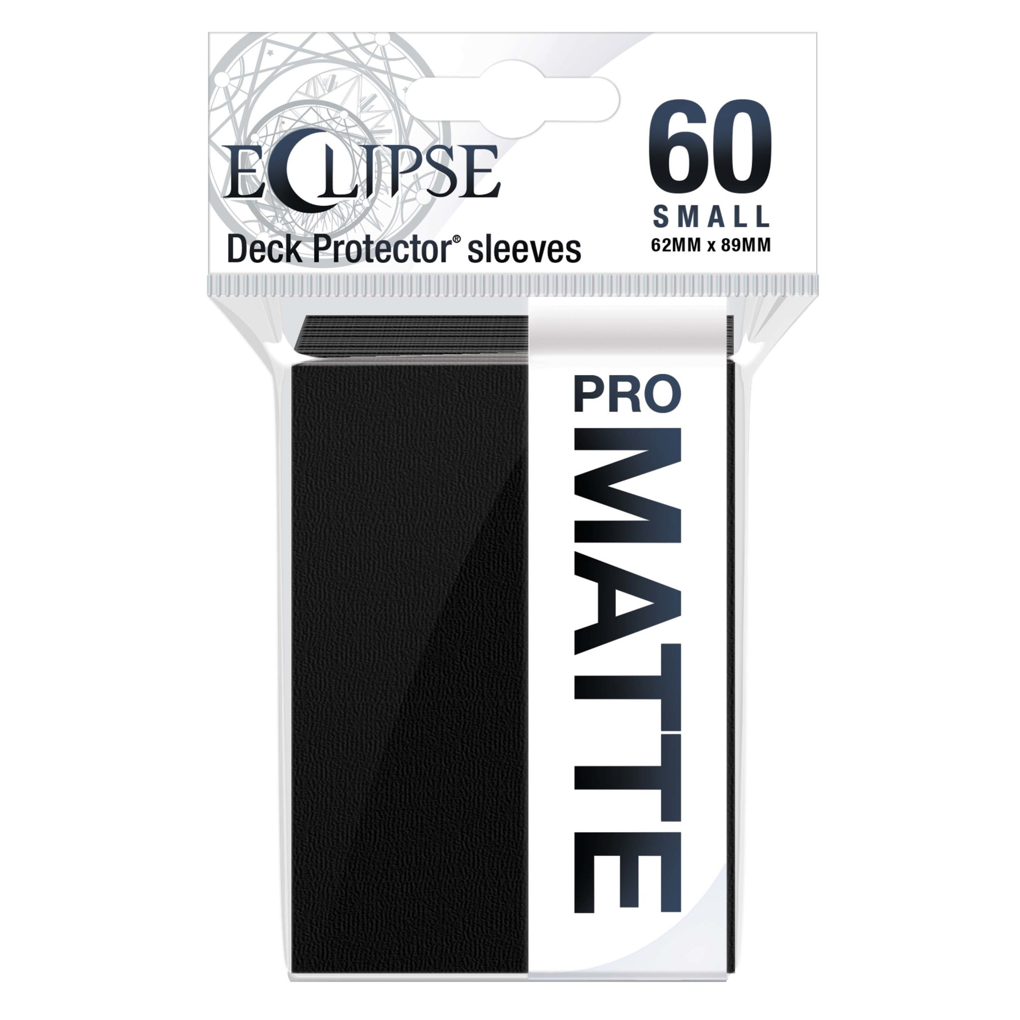 Eclipse Jet Black Small Matte Sleeves (60ct)