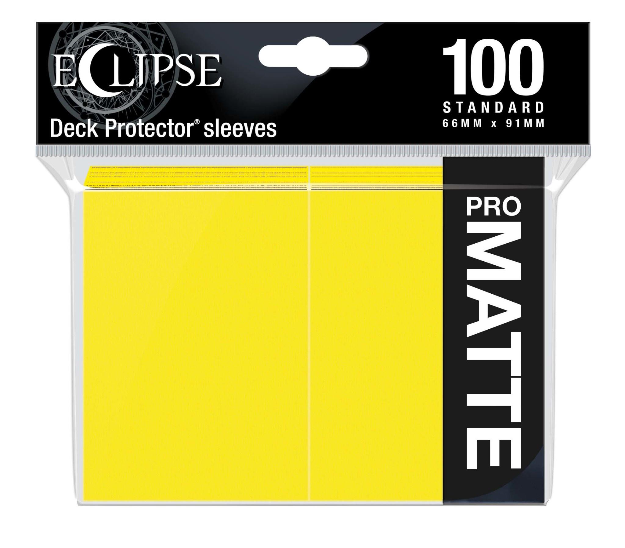 Eclipse Lemon Yellow Standard Matte Sleeves (100ct)