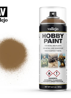 Vallejo Aerosol: Leather Brown (400ml)