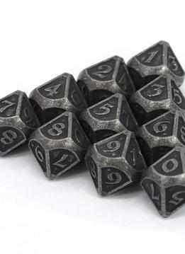 Metal Mythica Dice Set - 10d10 Dark Iron