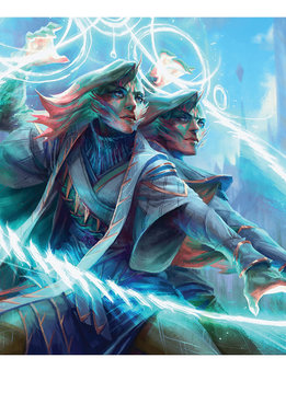 MTG Strixhaven Playmat: Adrix and Nev, Twincasters