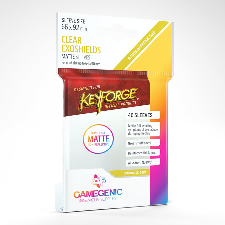 Keyforge: Clear Exoshields Sleeves MATTE