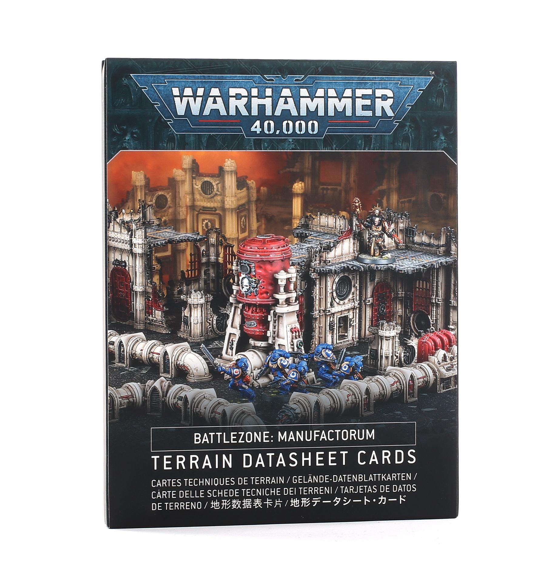 Battlezone: Manufactorum – Terrain Datasheet Cards (EN)