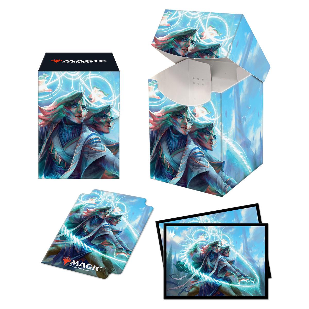 Commander 21 Quandrix Combo 100+ Deck Box and 100ct Sleeves