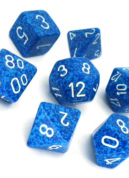 """25306: 7pc Dice Set Speckled """"Water"""""""