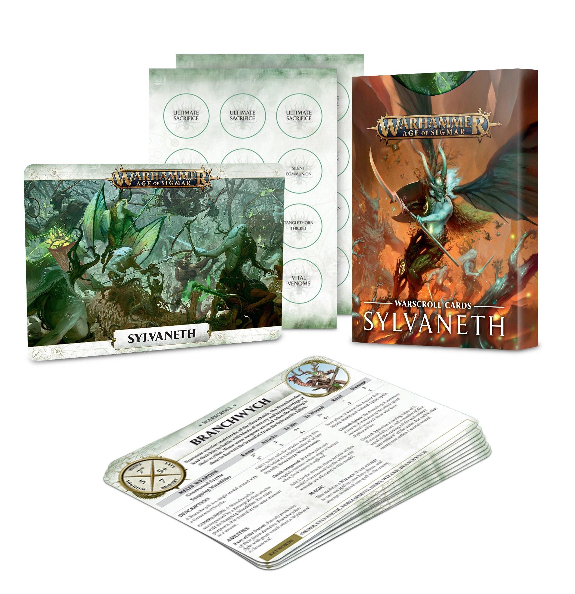 Sylvaneth Warscroll Cards (FR)