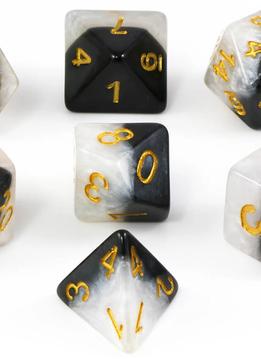 Halfsies Dice: Yin Yang 7-Dice Set