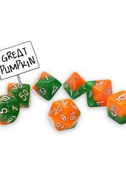 Halfsies Dice: Great Pumpkin 7-Dice Set