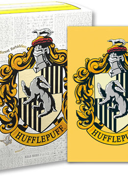 Hufflepuff - Dragon Shield Brushed Art Sleeves (100ct)