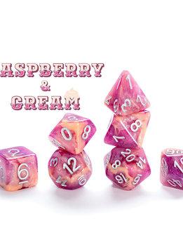 Aether Dice: Raspberry & Cream 7-Dice Set