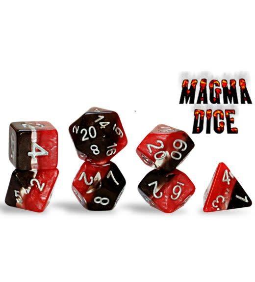 Supernova Dice: Magma 7-Dice Set
