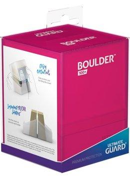 Boulder Deck Case: Standard 100+ Rhodonite (Pink)