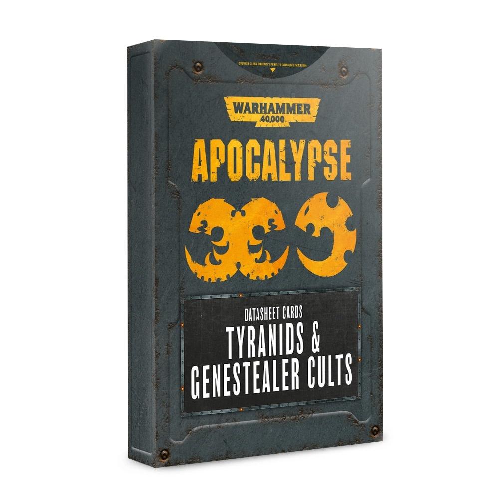 Apocalypse: Datasheet Cards Tyrannids et Genestealer Cult