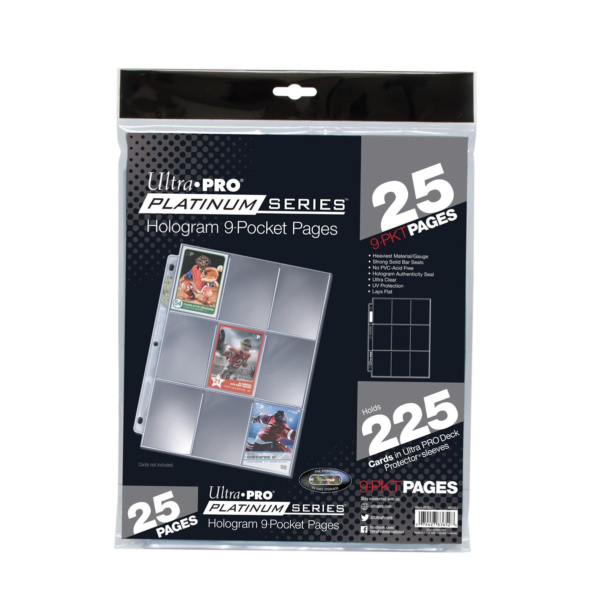 Ultra Pro 9-Pocket Platinum 25-Pack