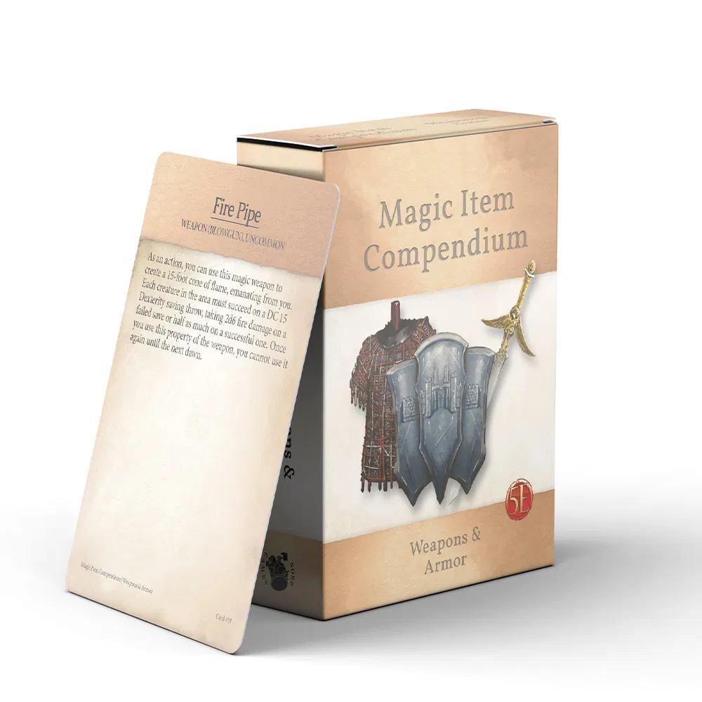 Magic Items Compendium: Weapons & Armors Deck