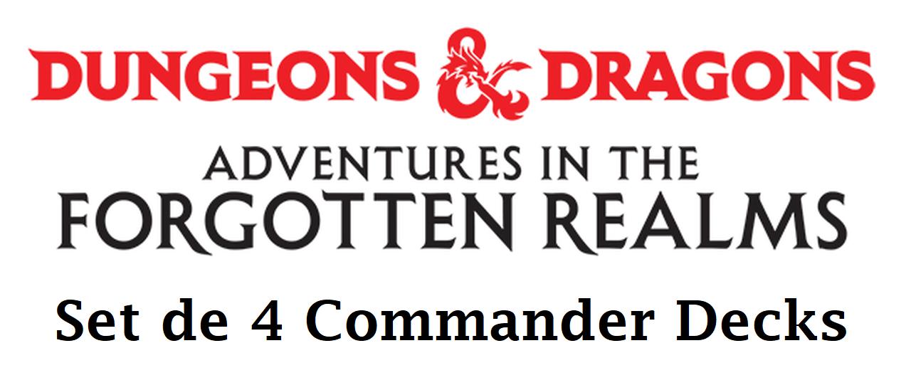 D&D Forgotten Realms Commander Deck: Set of 4