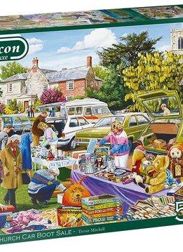 Puzzle: Village Church Car Boot Sale, Mitchell (500pcs)
