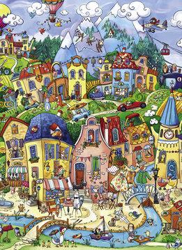 Puzzle: Happytown, Berman (1000mcx)