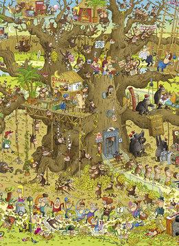 Puzzle: Monkey Habitat - Funky Zoo, Degano (1000mcx)